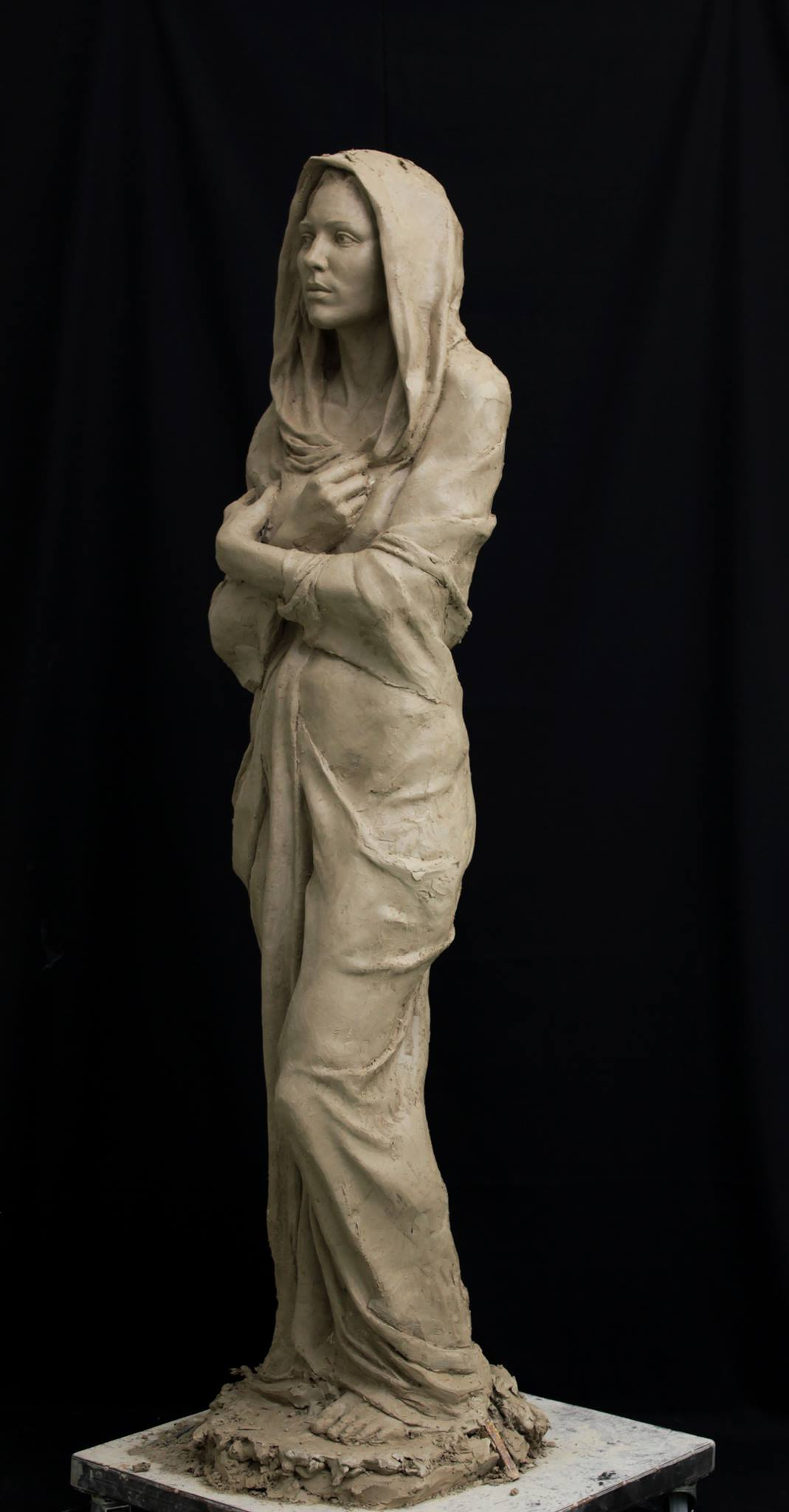 finished clay, life-size, 2014